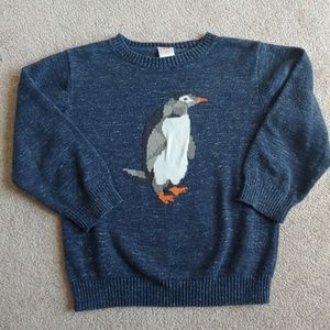 Gymboree Penguin Sweater 4T Toddler Boys Blue